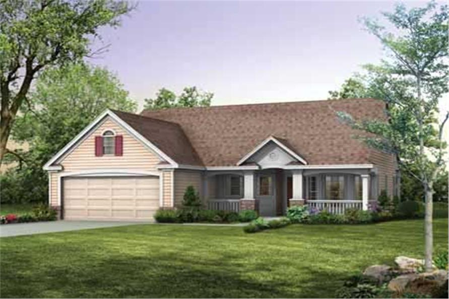 2-Bedroom, 1118 Sq Ft Country Home Plan - 137-1104 - Main Exterior