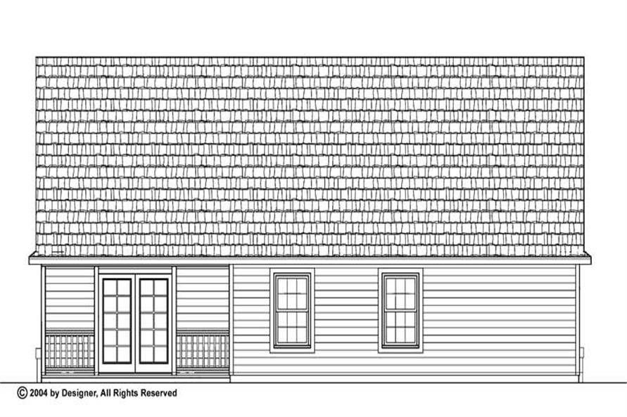 Home Plan Rear Elevation of this 2-Bedroom,1118 Sq Ft Plan -137-1104