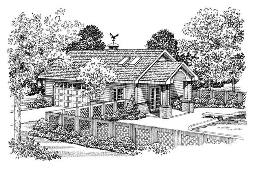 1-Bedroom, 321 Sq Ft Garage House Plan - 137-1105 - Front Exterior