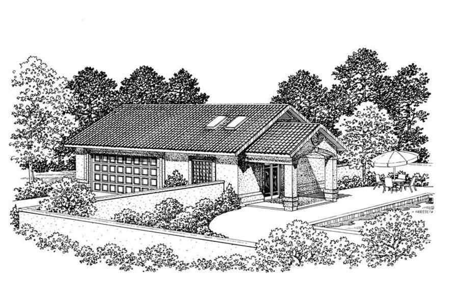 1-Bedroom, 876 Sq Ft Garage House Plan - 137-1106 - Front Exterior