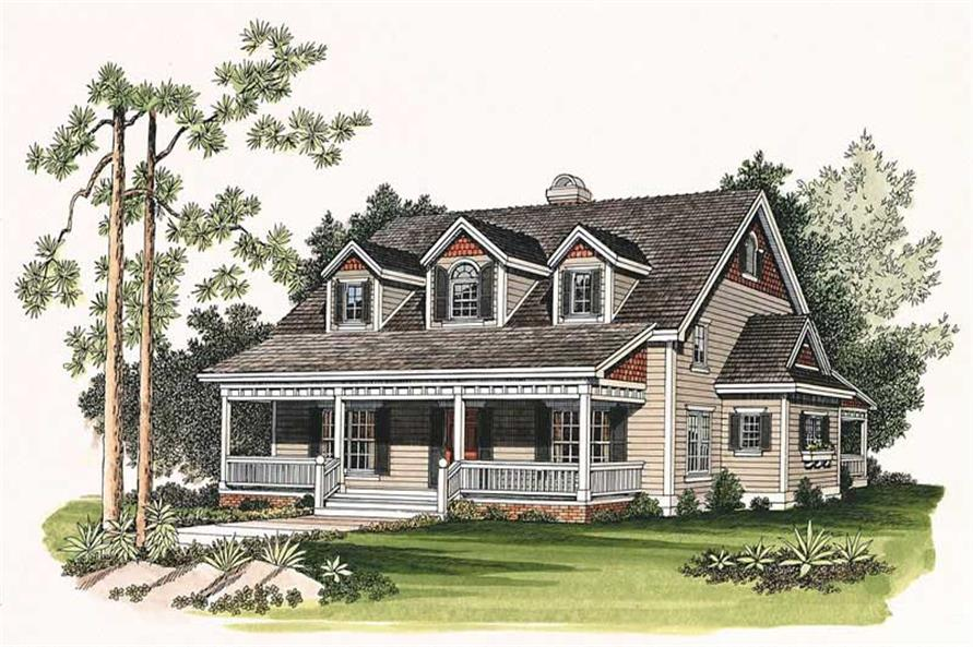 3-Bedroom, 1880 Sq Ft Country House Plan - 137-1109 - Front Exterior