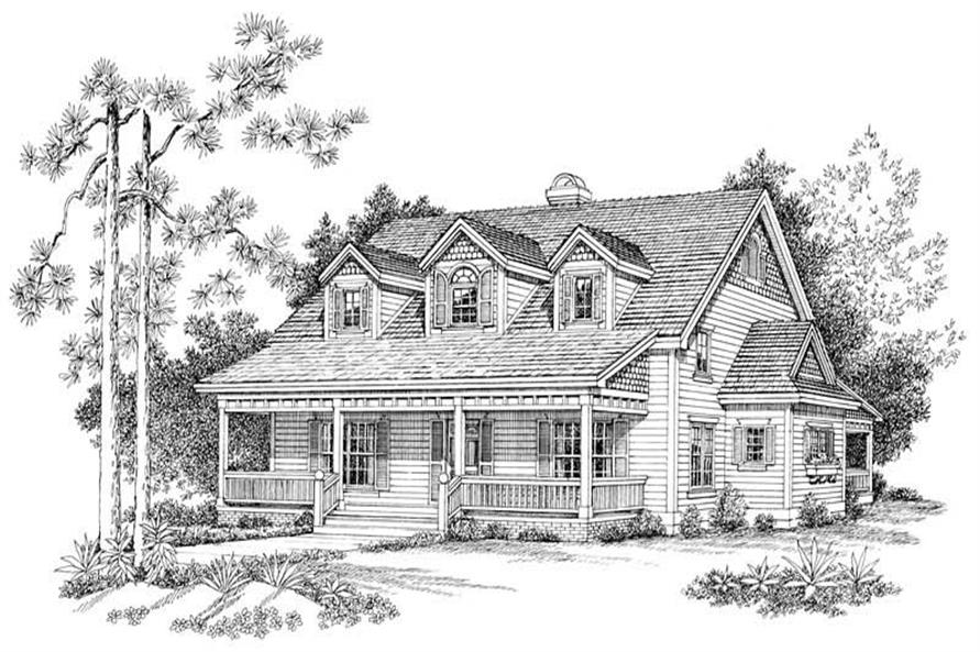 Home Plan Front Elevation of this 3-Bedroom,1880 Sq Ft Plan -137-1109