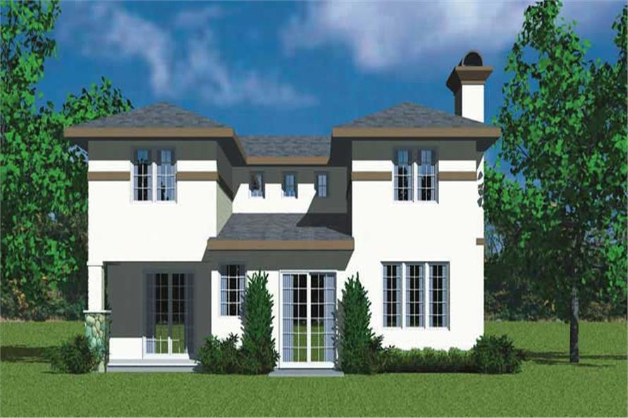 Home Plan Rear Elevation of this 3-Bedroom,2072 Sq Ft Plan -137-1110