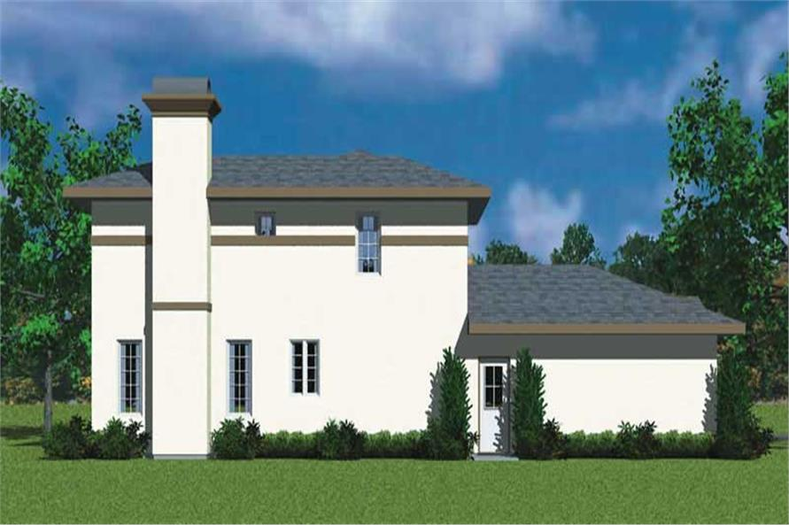 Home Plan Left Elevation of this 3-Bedroom,2072 Sq Ft Plan -137-1110
