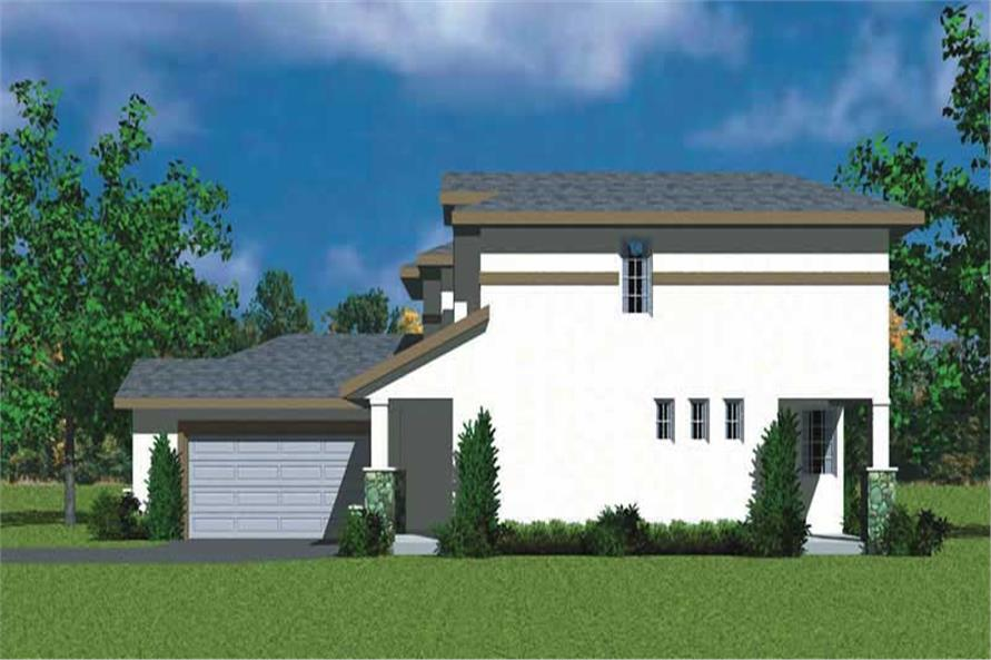 Home Plan Right Elevation of this 3-Bedroom,2072 Sq Ft Plan -137-1110