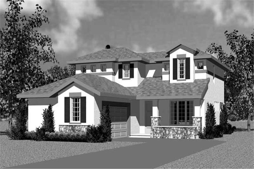 Home Plan Front Elevation of this 3-Bedroom,2072 Sq Ft Plan -137-1110