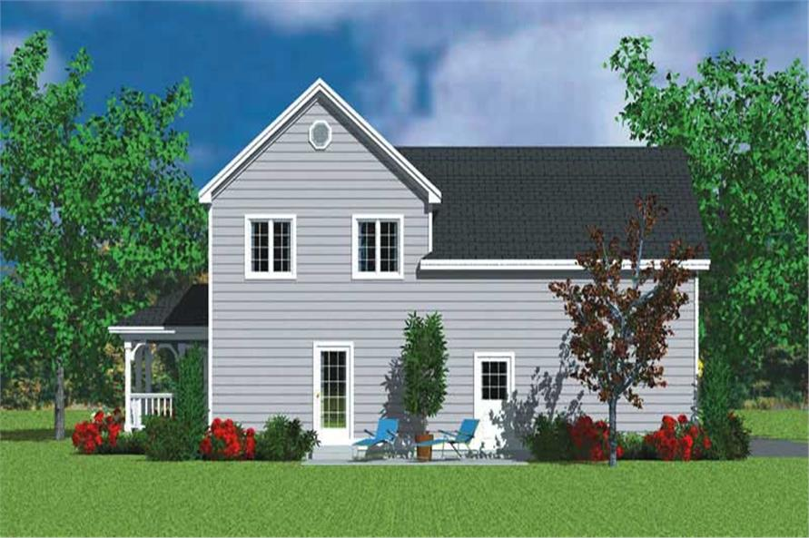 Home Plan Rear Elevation of this 3-Bedroom,1987 Sq Ft Plan -137-1114