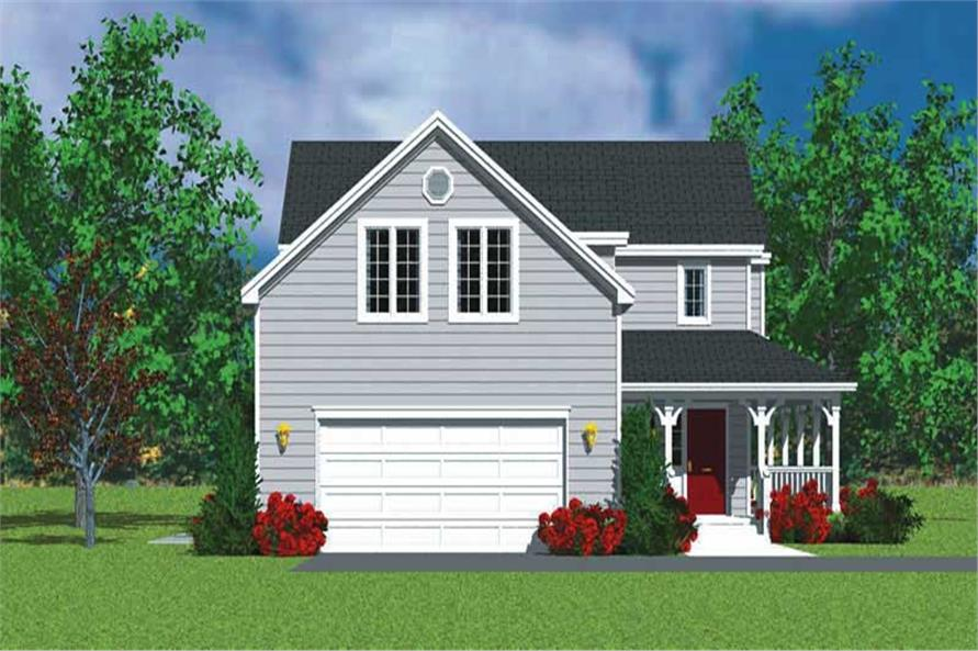 Home Plan Left Elevation of this 3-Bedroom,1987 Sq Ft Plan -137-1114