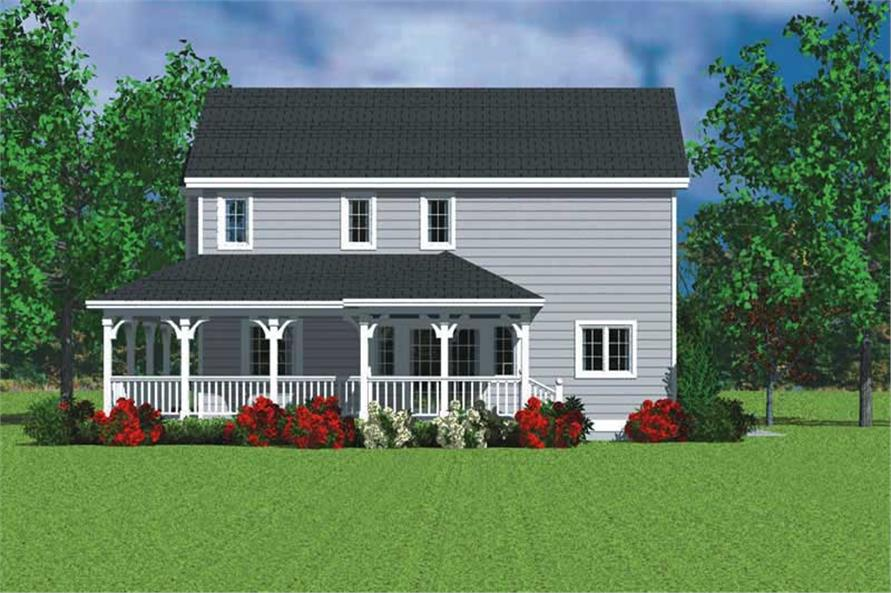 Home Plan Right Elevation of this 3-Bedroom,1987 Sq Ft Plan -137-1114