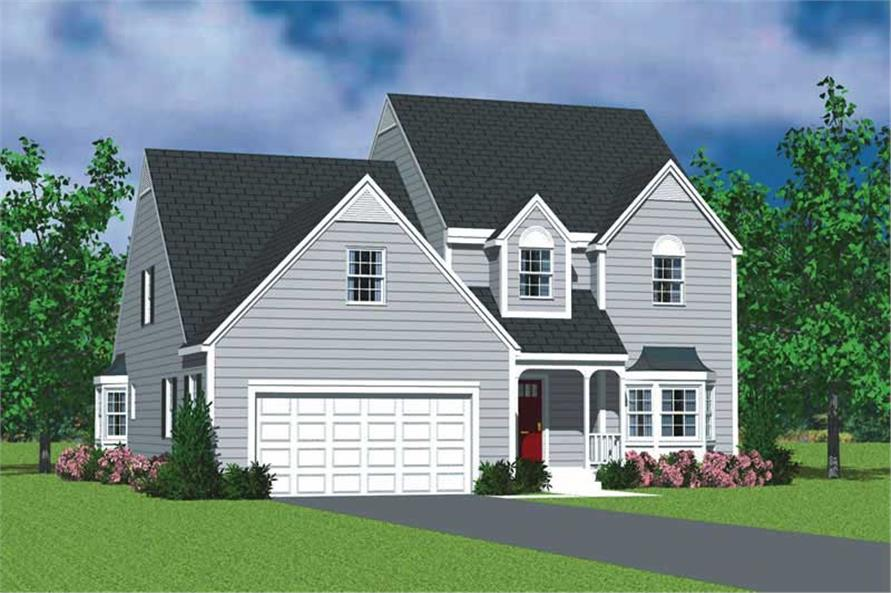 4-Bedroom, 2057 Sq Ft Country House Plan - 137-1115 - Front Exterior
