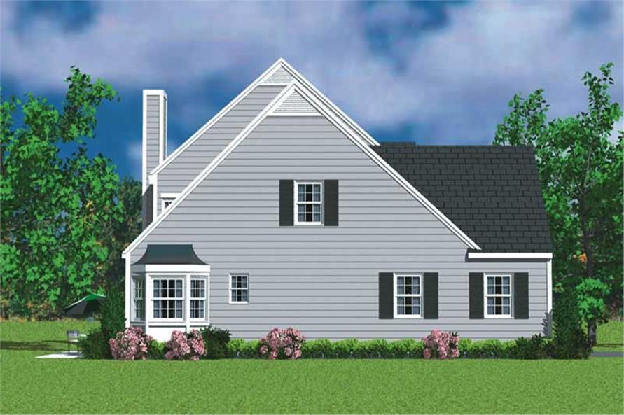 Home Plan Left Elevation of this 4-Bedroom,2057 Sq Ft Plan -137-1115