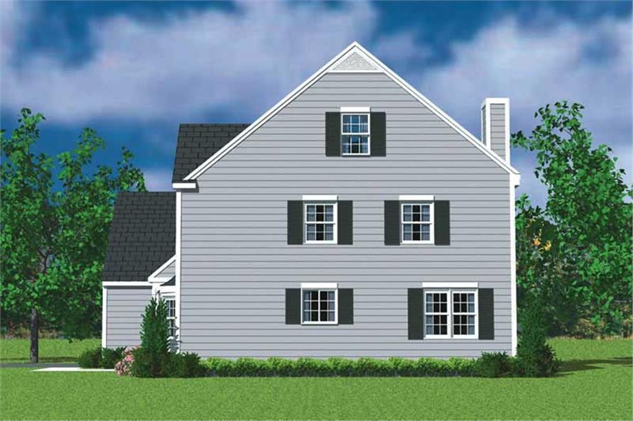 Home Plan Right Elevation of this 4-Bedroom,2057 Sq Ft Plan -137-1115
