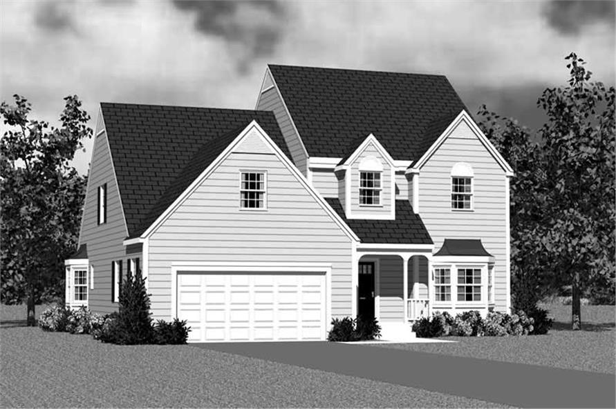 Home Plan Front Elevation of this 4-Bedroom,2057 Sq Ft Plan -137-1115