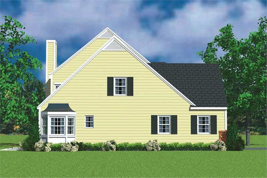 Home Plan Left Elevation of this 4-Bedroom,2059 Sq Ft Plan -137-1116