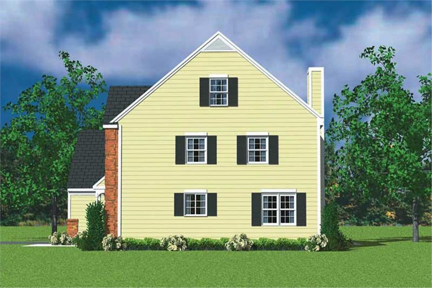 Home Plan Right Elevation of this 4-Bedroom,2059 Sq Ft Plan -137-1116