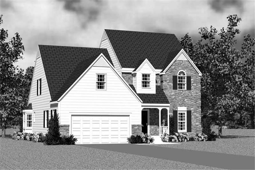 Home Plan Front Elevation of this 4-Bedroom,2059 Sq Ft Plan -137-1116