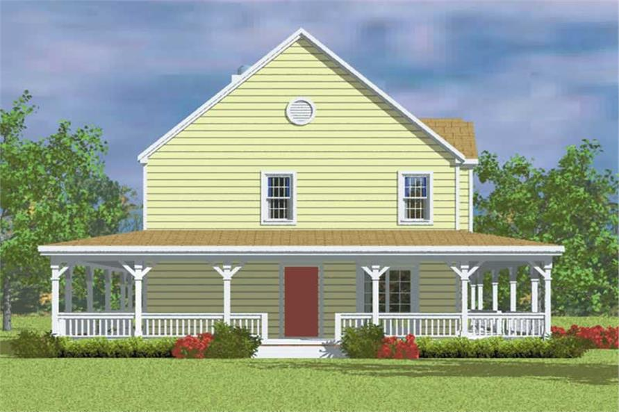 Home Plan Left Elevation of this 4-Bedroom,2295 Sq Ft Plan -137-1118