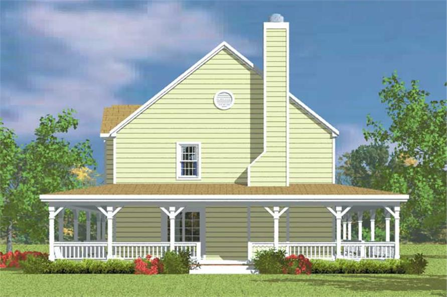 Home Plan Right Elevation of this 4-Bedroom,2295 Sq Ft Plan -137-1118