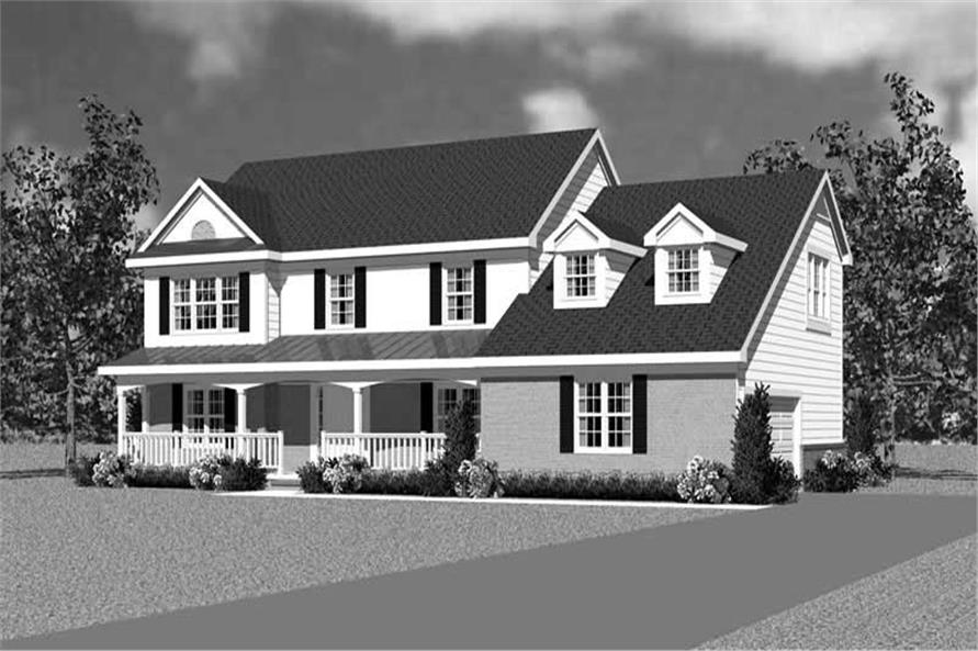 Home Plan Front Elevation of this 4-Bedroom,2359 Sq Ft Plan -137-1120