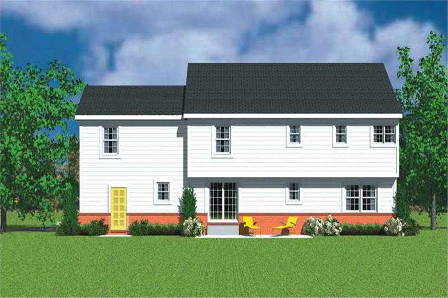 Home Plan Rear Elevation of this 4-Bedroom,2359 Sq Ft Plan -137-1120