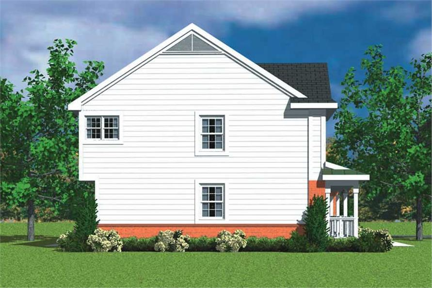 Home Plan Left Elevation of this 4-Bedroom,2359 Sq Ft Plan -137-1120