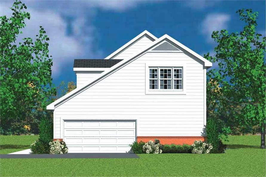 Home Plan Right Elevation of this 4-Bedroom,2359 Sq Ft Plan -137-1120