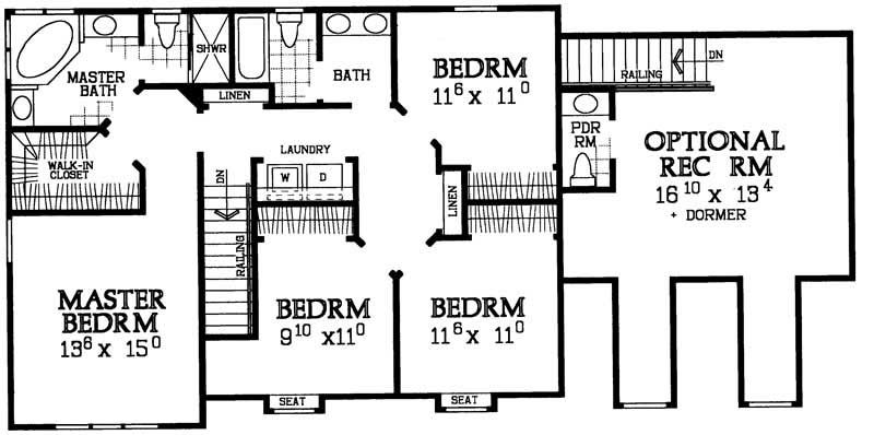 Country farmhouse house plans home design hw 5548 17827 for 1120 westchester place floor plan
