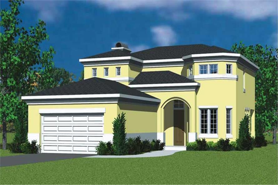 3-Bedroom, 2320 Sq Ft Mediterranean House Plan - 137-1123 - Front Exterior