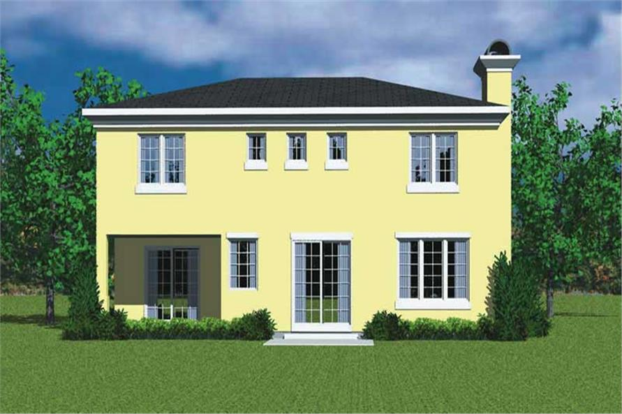 Home Plan Rear Elevation of this 3-Bedroom,2320 Sq Ft Plan -137-1123