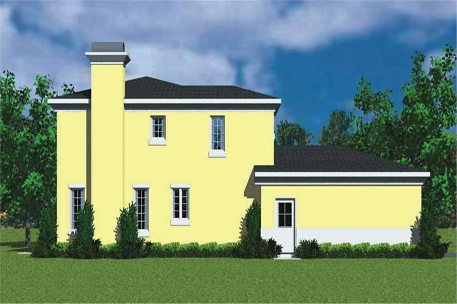 Home Plan Left Elevation of this 3-Bedroom,2320 Sq Ft Plan -137-1123