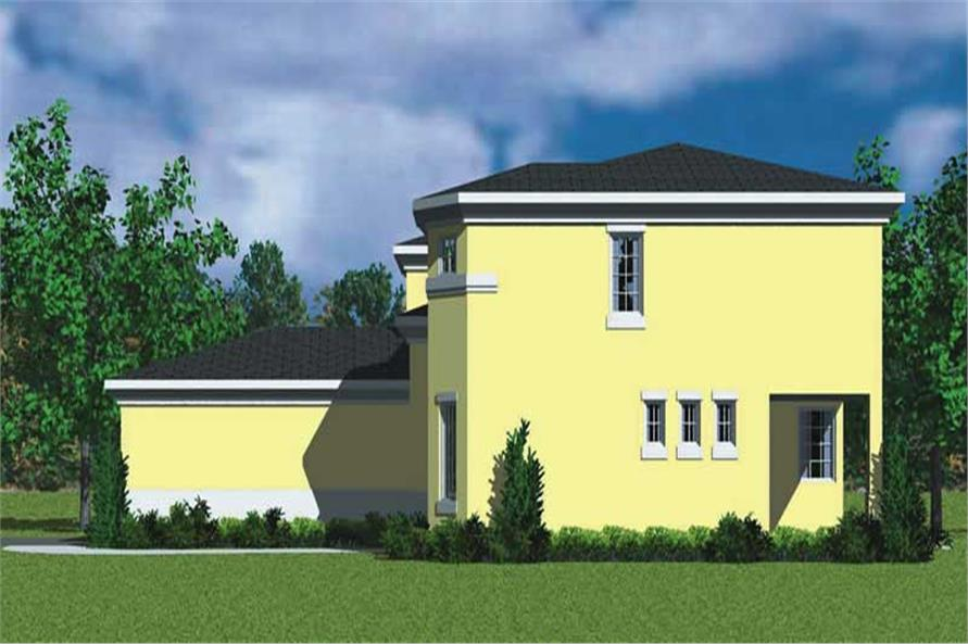 Home Plan Right Elevation of this 3-Bedroom,2320 Sq Ft Plan -137-1123