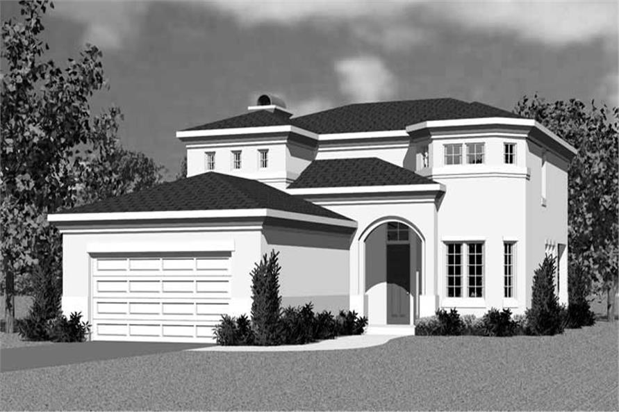 Home Plan Front Elevation of this 3-Bedroom,2320 Sq Ft Plan -137-1123