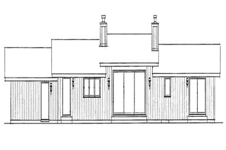 House Plan HW-2818 Rear Elevation