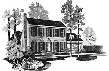 3-Bedroom, 2012 Sq Ft Colonial House Plan - 137-1126 - Front Exterior