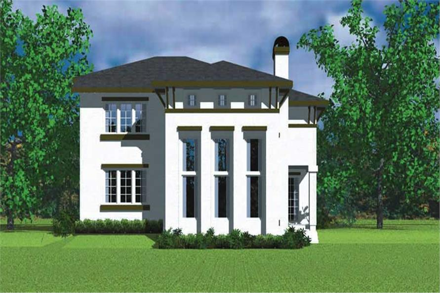 Home Plan Rear Elevation of this 4-Bedroom,2225 Sq Ft Plan -137-1128