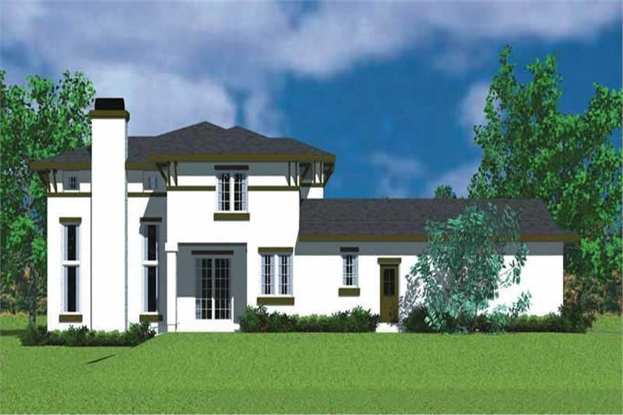 Home Plan Left Elevation of this 4-Bedroom,2225 Sq Ft Plan -137-1128