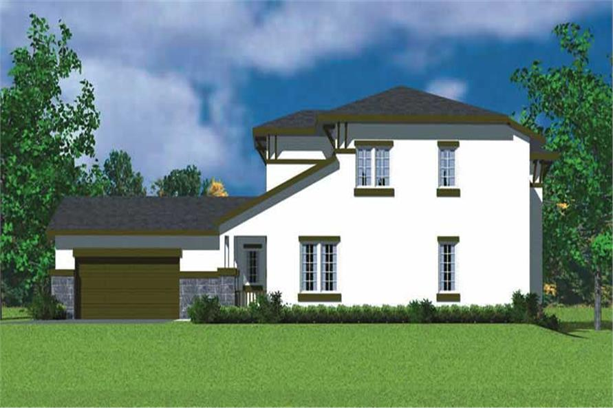 Home Plan Right Elevation of this 4-Bedroom,2225 Sq Ft Plan -137-1128