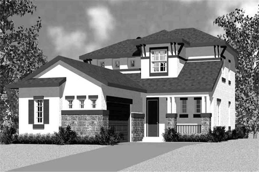 Home Plan Front Elevation of this 4-Bedroom,2225 Sq Ft Plan -137-1128