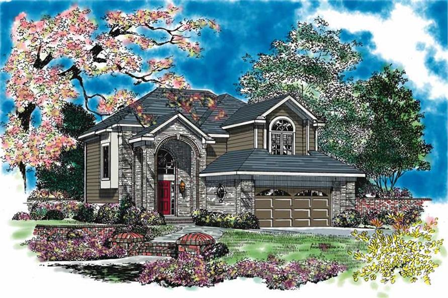 4-Bedroom, 2513 Sq Ft Traditional Home Plan - 137-1129 - Main Exterior