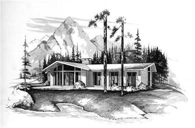 3-Bedroom, 1292 Sq Ft Contemporary Home Plan - 137-1133 - Main Exterior