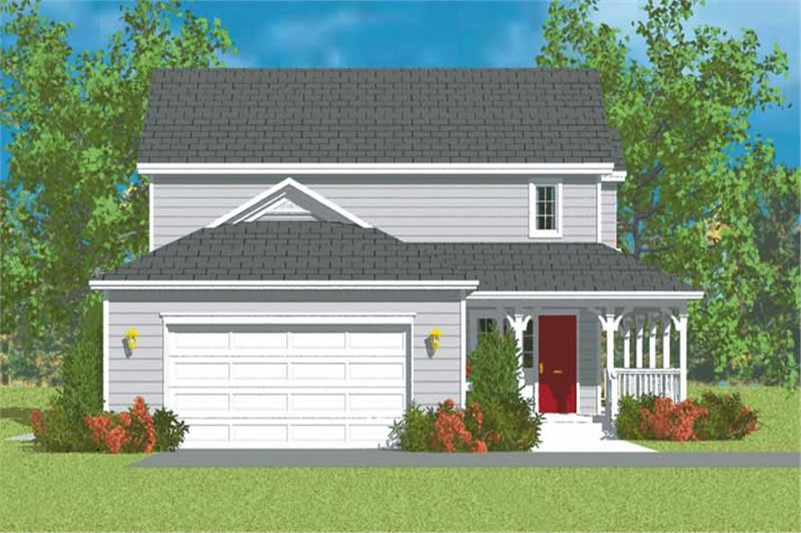 Home Plan Left Elevation of this 3-Bedroom,1406 Sq Ft Plan -137-1137