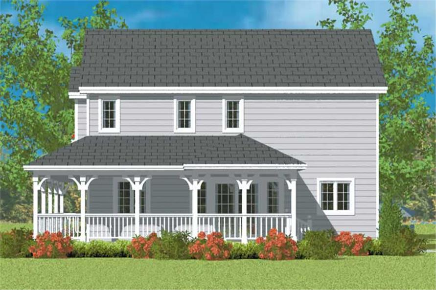 Home Plan Right Elevation of this 3-Bedroom,1406 Sq Ft Plan -137-1137