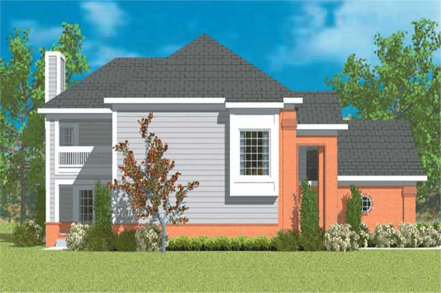Home Plan Left Elevation of this 2-Bedroom,2152 Sq Ft Plan -137-1138