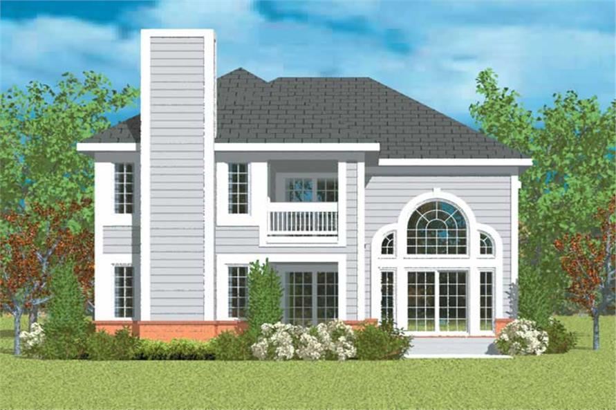 Home Plan Rear Elevation of this 2-Bedroom,2152 Sq Ft Plan -137-1138