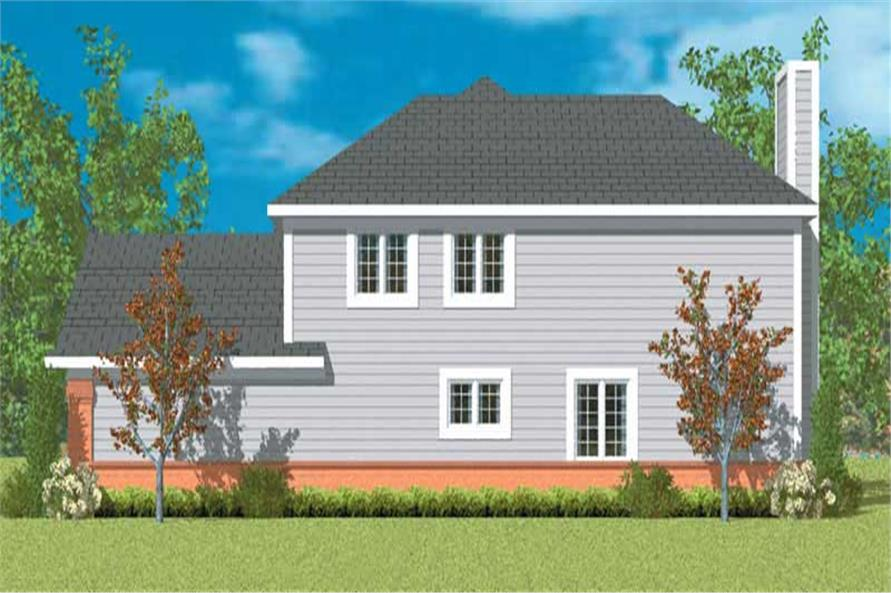Home Plan Right Elevation of this 2-Bedroom,2152 Sq Ft Plan -137-1138