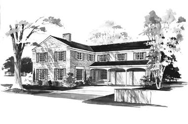 6-Bedroom, 4166 Sq Ft Country House Plan - 137-1140 - Front Exterior