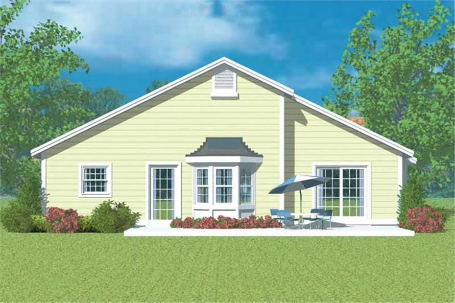 Home Plan Rear Elevation of this 3-Bedroom,1971 Sq Ft Plan -137-1141