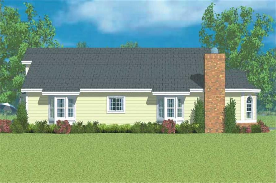 Home Plan Left Elevation of this 3-Bedroom,1971 Sq Ft Plan -137-1141