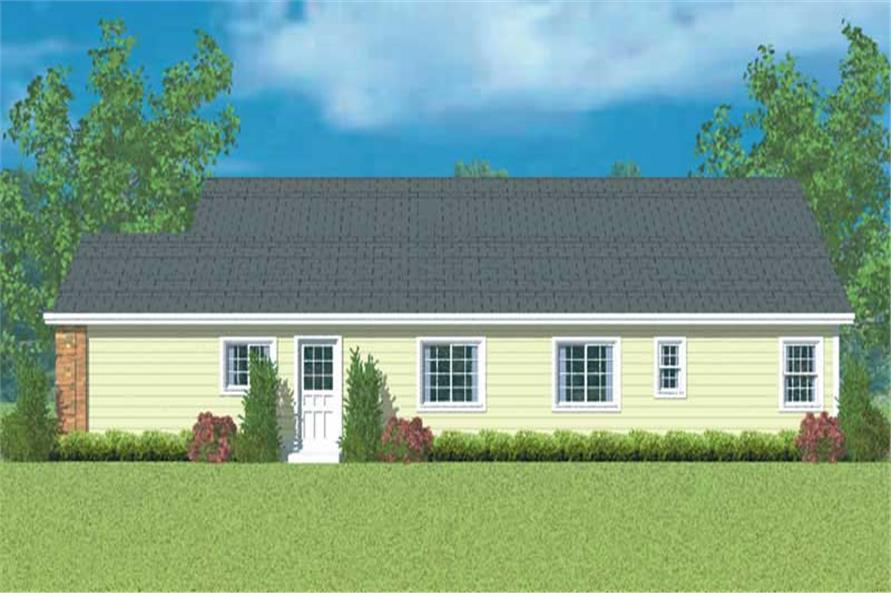 Home Plan Right Elevation of this 3-Bedroom,1971 Sq Ft Plan -137-1141