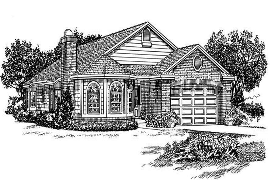 Home Plan Front Elevation of this 3-Bedroom,1971 Sq Ft Plan -137-1141